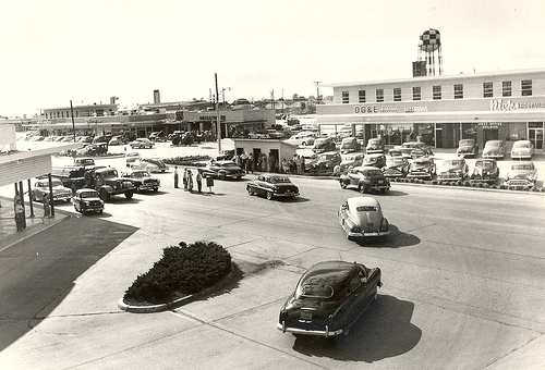 Downtown Midwest City at the Tinker base gate. Photo courtesy of the Atkinson Center.