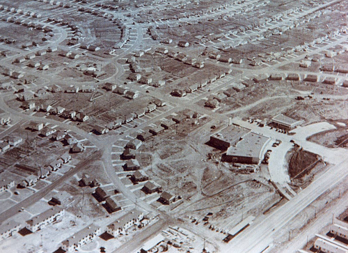 Aerial photo of Midwest City, 1943. Photo courtesy of the Atkinson Center.
