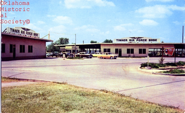 Early day Tinker Air Force Base postcard, courtesy of the Oklahoma Historical Society.